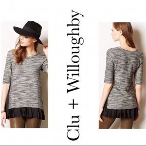 Anthropologie Inkstick Clu + Willoughby tunic top